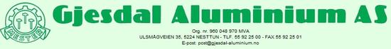 Gjesdal Aluminium AS